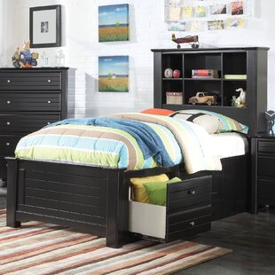 Deals Saylor Bookcase Panel Bed with Storage By Harriet Bee
