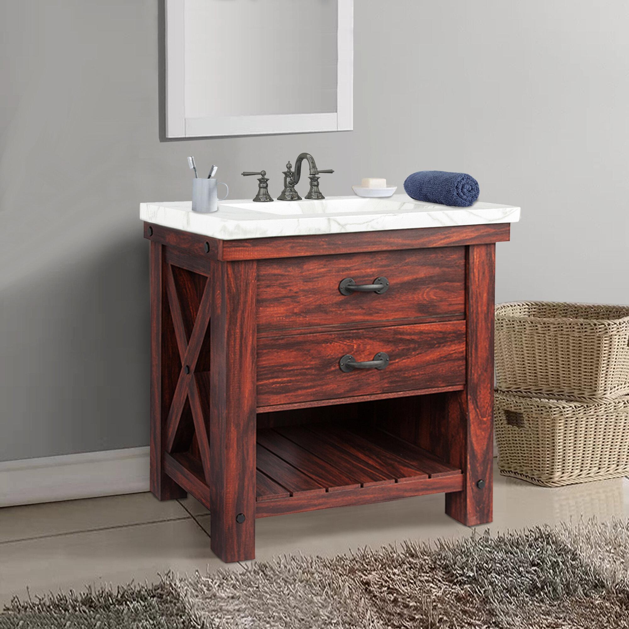 Millwood Pines Marielle 36 Single Bathroom Vanity Set Reviews Wayfair