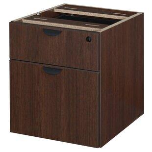 Latitude Run Linh Box File Pedestal 2-Drawer Lateral Filing Cabinet