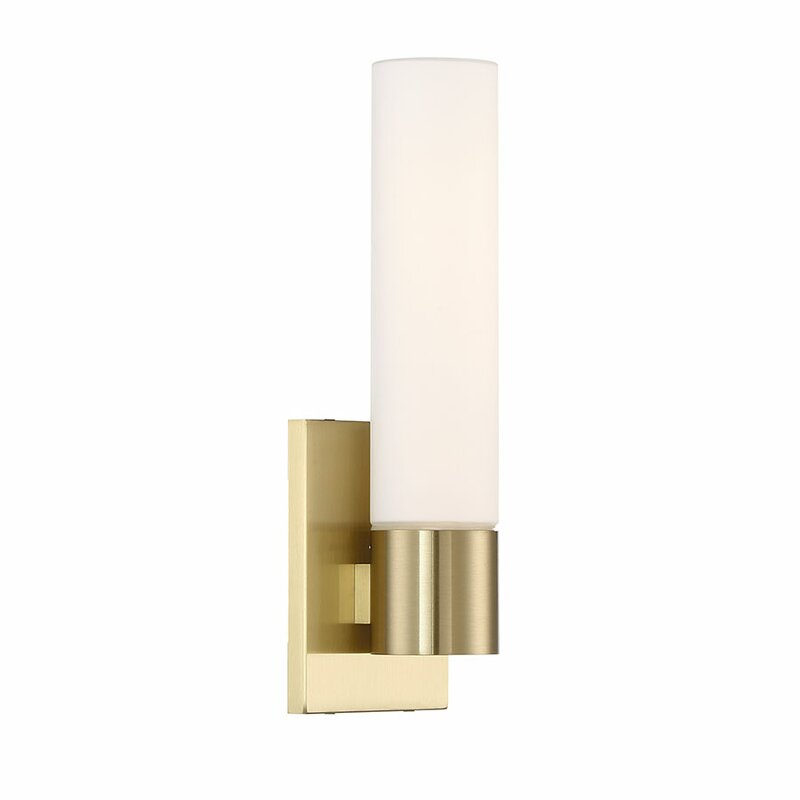 Latitude Run Cheswick 1-Light LED Armed Sconce