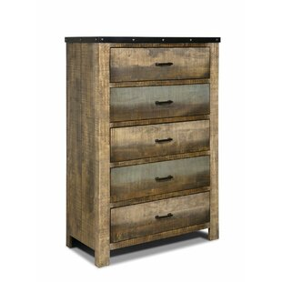 Gould Wooden 5 Drawers Lingerie Chest by Rosecliff Heights