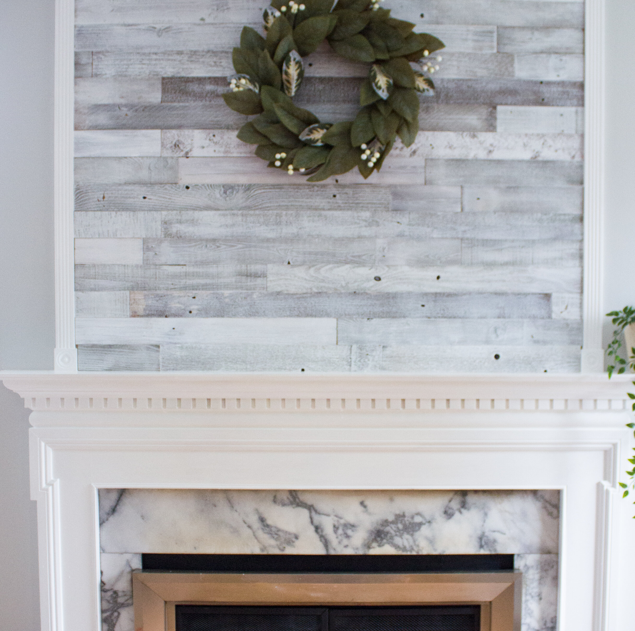 Plankandmill 3 Reclaimed Barnwood L And Stick Wall Paneling In Whitewashed Reviews Wayfair