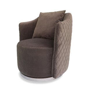 Yasmina Swivel Barrel Chair by Red Barrel Studio