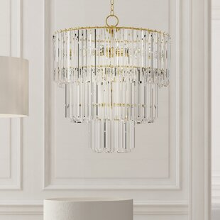 Shabby chic chandeliers wayfair grisella 9 light crystal chandelier aloadofball Images