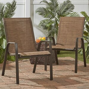 Awesome Arra Stackable Steel Outdoor Lounge Chair (Set Of 2)