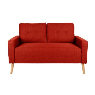 Ramsdell Mid Century Loveseat by Wrought Studio New