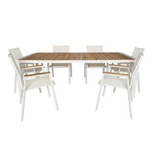 UrbanMod Santino 7 Piece Teak Dining Set