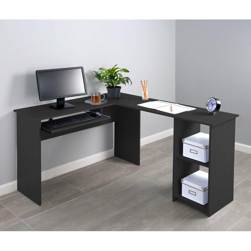 Ordinaire Corner Keyboard Tray L Shaped Computer Desk