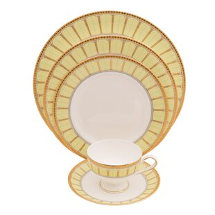 Discovery 5 Piece Bone China Place Setting, Service for 1 (Set of 4)