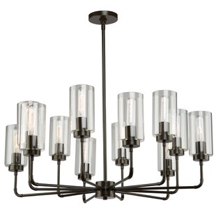 17 Stories Taurla 12-Light Shaded Chandelier