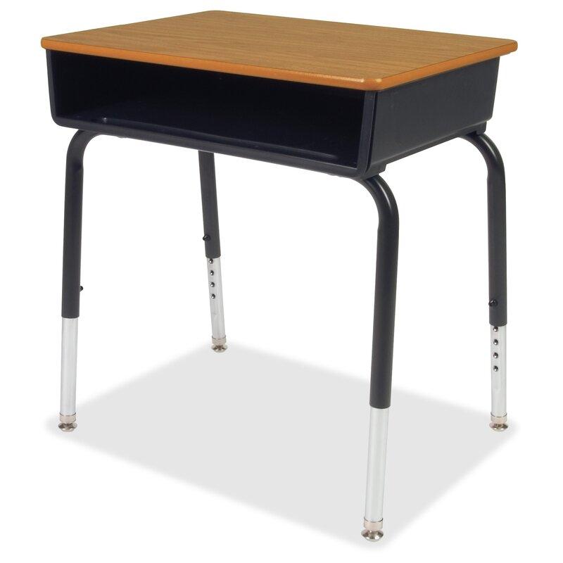 Lorell Classroom Solid Wood Adjustable Height Open Front Desk Reviews Wayfair