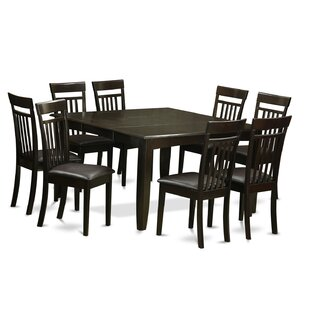 Pilning Contemporary 9 Piece Wood Dining Set