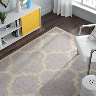 Charlenne Hand Tufted Wool Silver Ivory Area Rug