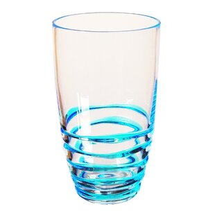 Swirl 19 oz. Plastic Drinking Glass (Set of 4)