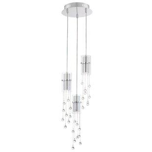 Orren Ellis Aazad 3-Light Cluster Pendant