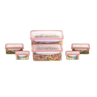 Klimetz BPA Free Plastic 12 Container Food Storage Set