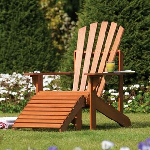 Rowlinson Wood Adirondack Chair with Ottoman