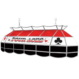 Trademark Global Four Aces 3-Light Pool Table Light