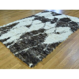 Deals Callihan Moroccan Plush Handmade Shag Wool Area Rug ByBungalow Rose