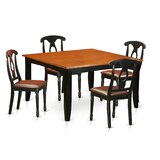 Pilning 5 Piece Wood Dining Set by August Grove®