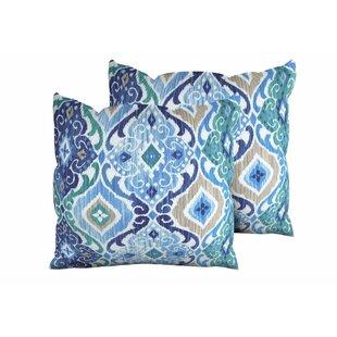 blue and green throw pillows. Cobalt Outdoor Throw Pillow (Set Of 2) Blue And Green Pillows