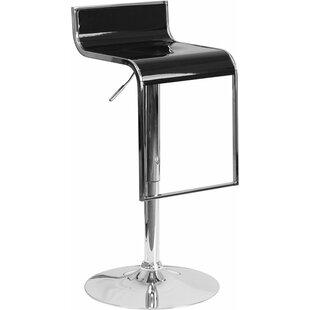 Orren Ellis Whelan Adjustable Height Swivel Bar Stool
