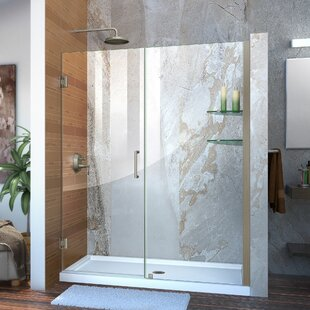 Unidoor 59 x 72 Hinged Frameless Shower Door with Clearmax? Technology by DreamLine
