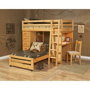 Allegro Twin Over Twin Loft Bed with C..