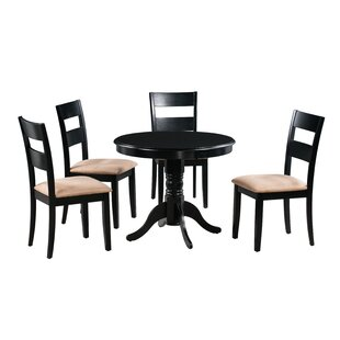 Jordyn 5 Piece Drop Leaf Solid Wood Dining Set