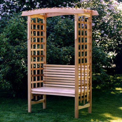Garden Wood Arbor with Bench All Things Cedar