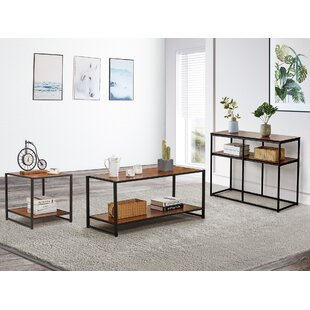 Jenkins 3 Pieces Coffee Table Set