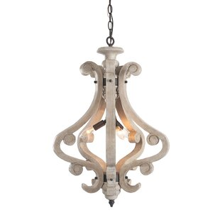 Locksley 4-Light Lantern Chandelier by Ophelia & Co.