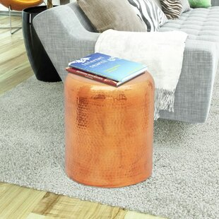 Ambau Hammered End Table by World Menagerie