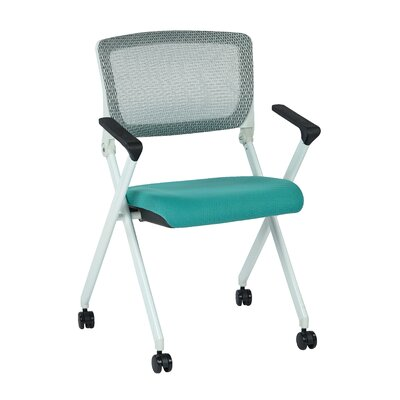 Symple Stuff Pascarella Fabric Padded Folding Chair Upholstery: Jade