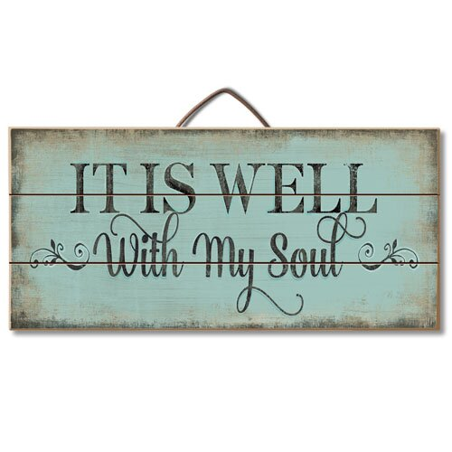It is Well with My Soul Pallet Wood Sign Wall Décor