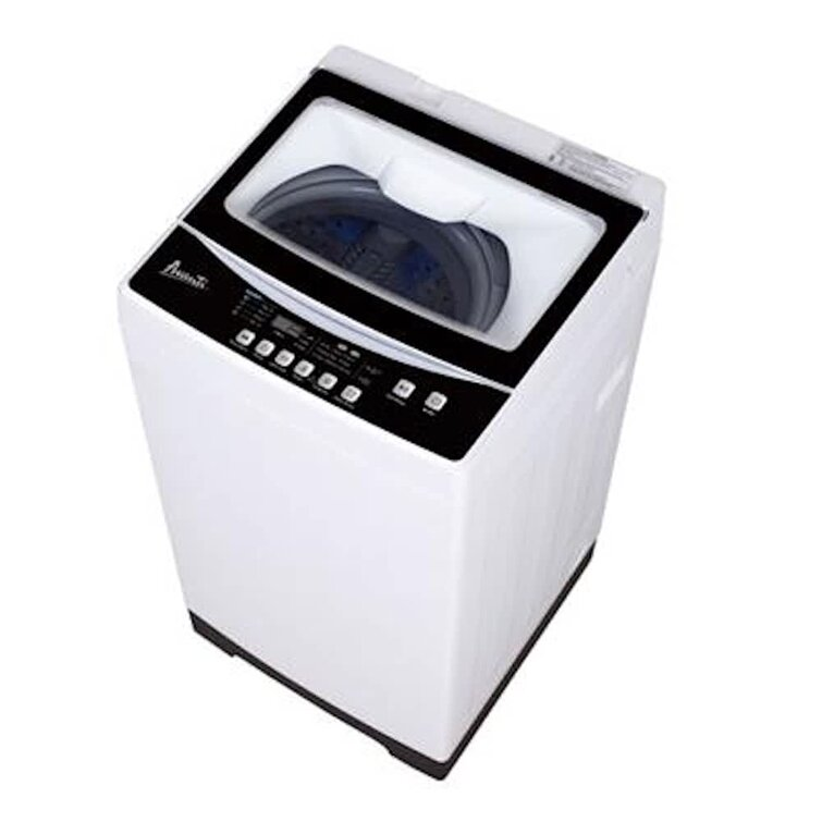 Good Treasures 25 Cubic Feet Cu. Ft. Top Load Washer in White/Black