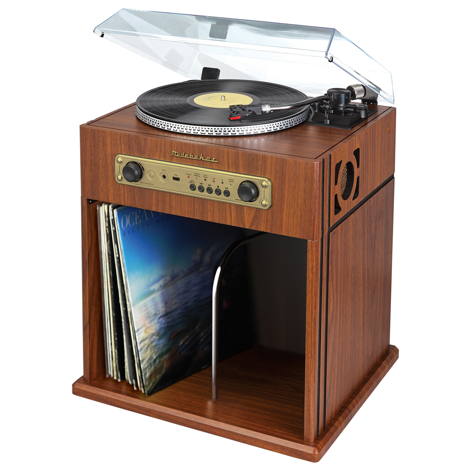 Studebaker Stereo Turntable With Bluetooth Receiver And Record Storage  Cabinet U0026 Reviews | Wayfair