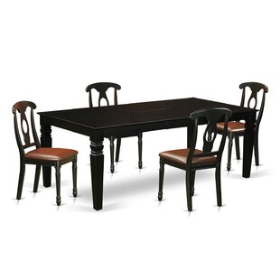 Beesley 5 Piece Black/Cherry Dining Set DarHome Co