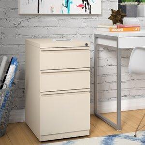Mckamey 3 Drawer Mobile Pedestal File Cabinet