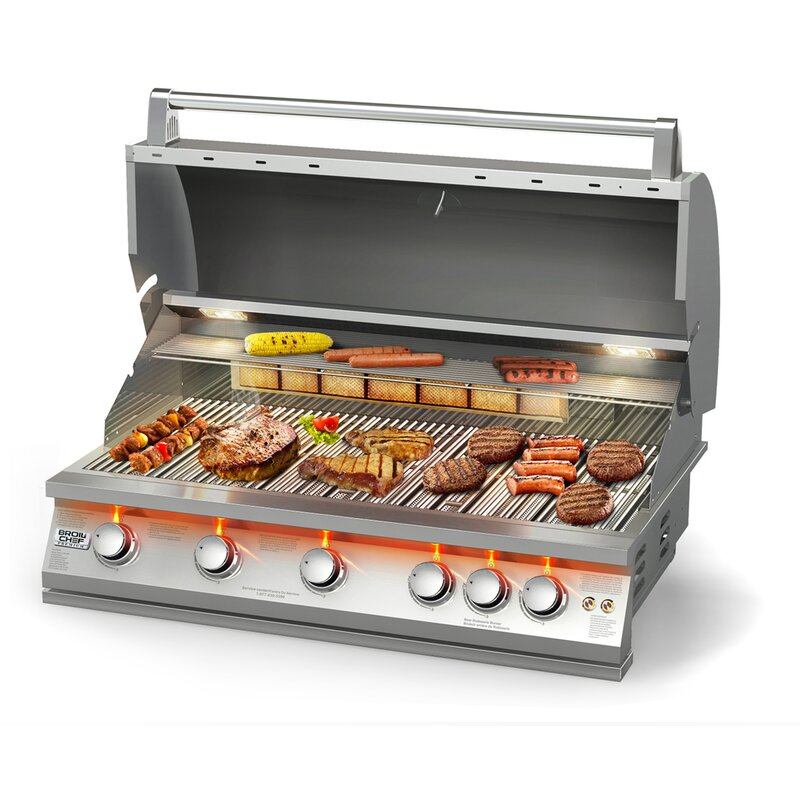 BroilChef 5-Burner Built-In Natural Gas Grill & Reviews ...