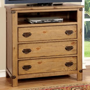 Shellson 3 Drawer Media Chest