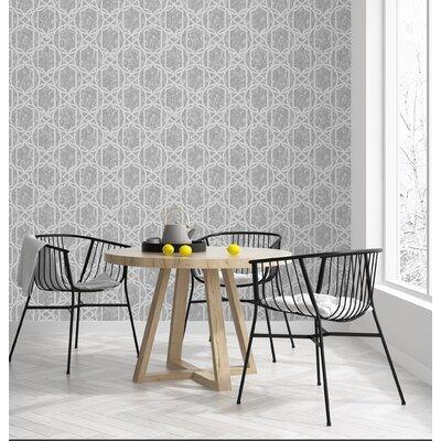 Mercer41 Deco Geo Beige Wallpaper Colour: Charcoal