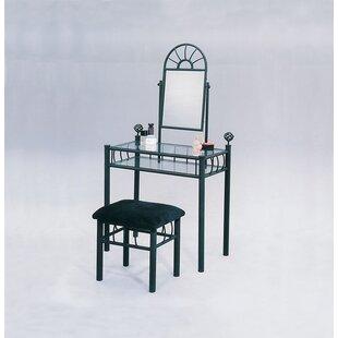 A&J Homes Studio Sunburst Vanity Set with Mirror