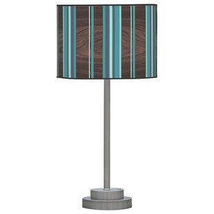 Organic Modern Vertical Stripes Stem 24 Table Lamp