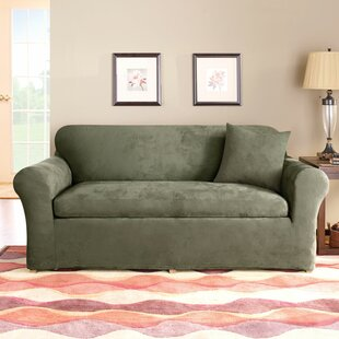 Stretch Suede Box Cushion Sofa Slipcover