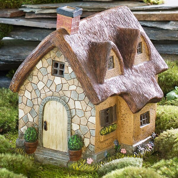 "Miniature Dollhouse FAIRY GARDEN ~ Small Mini 2.75/"" High HOUSE Cottage ~ NEW"