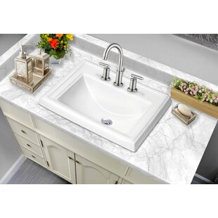 Reviews Rectangular Drop-In Bathroom Sink with Faucet By Soleil
