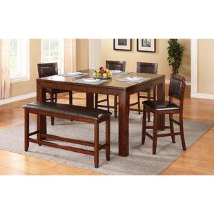 Red Barrel Studio Brookstonval Extendable Dining Table Set