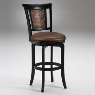Cecily Black 30 Swivel Bar Stool