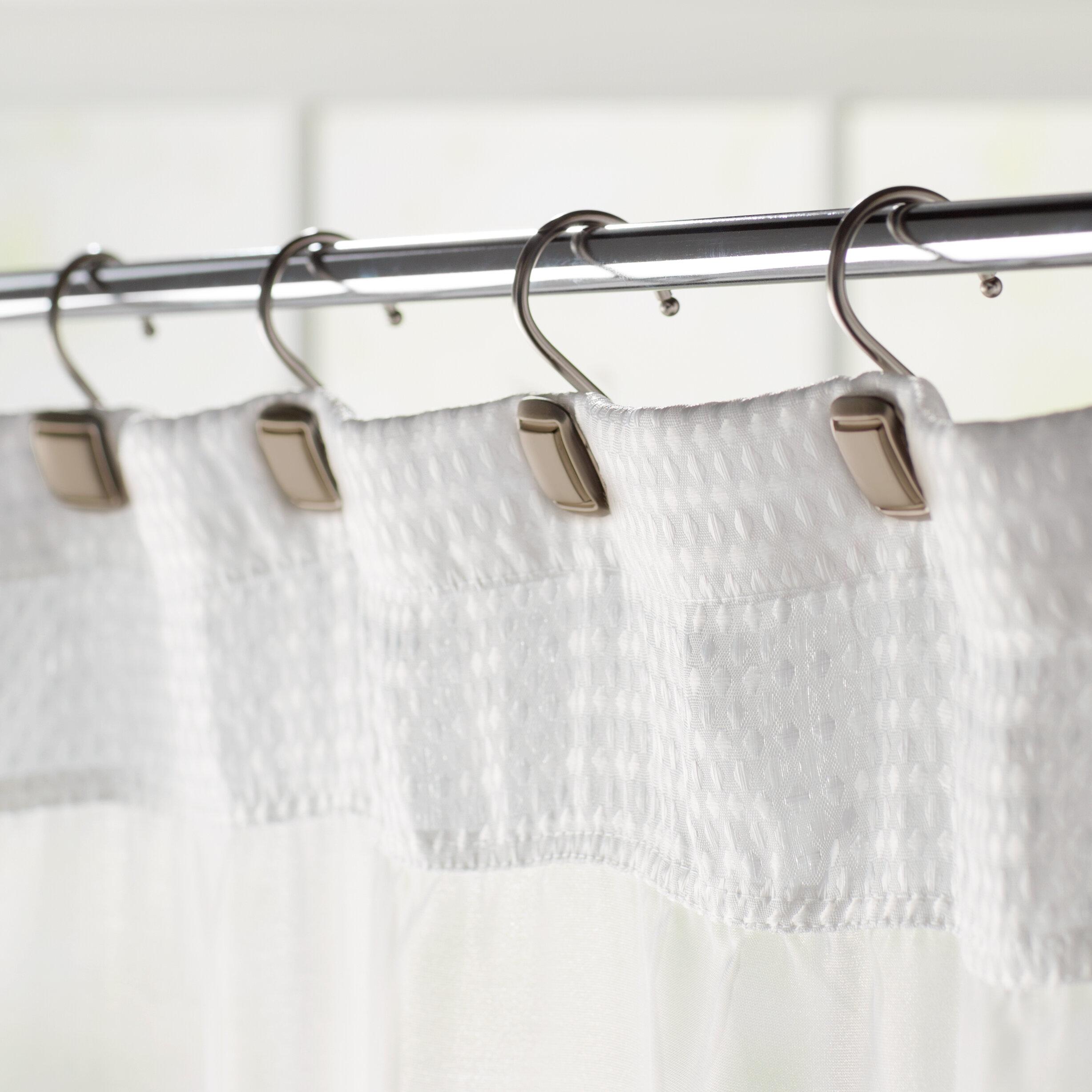 Burnett Square Wall Mounted Shower Curtain Hooks